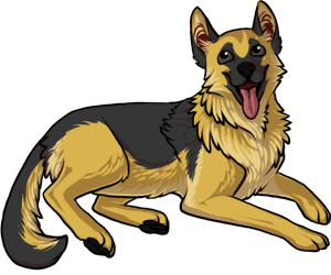 German Shepherd border=